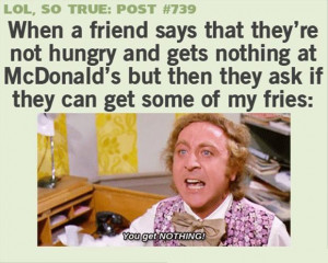 funny quotes, eating with friends