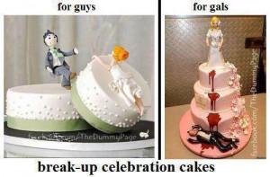 Break Up Celebration Cakes
