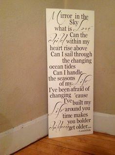 Landslide lyrics Fleetwood Mac wood sign rustic by TheBarnWoodSign, $ ...