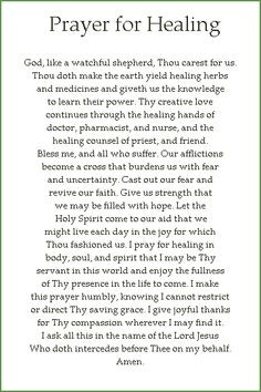 Prayer Quotes For Healing   CFC - Cluster 2 Chapter D: PRAYER FOR ...