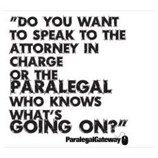 Paralegal In Charge [Text Bla Wall Art Poster