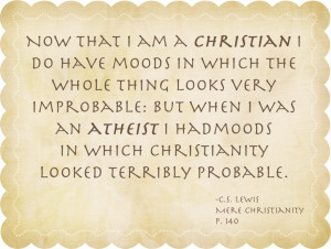 Thoughts on Christianity and Atheism by C.S Lewis