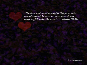Love Quote on a wallpaper