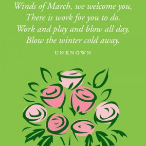 March Winds Quotes