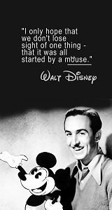 it was all started by a mouse.