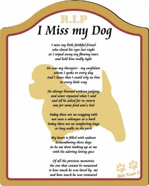 ... missing my dog, memorial for dog, Plaque for Dog (CFS-810P-515) Review