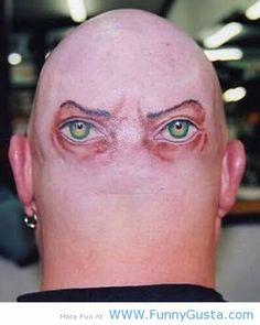 Funny Joke Quote and Saying Tattoo Ideas | funny bald head tattoos 7 I ...