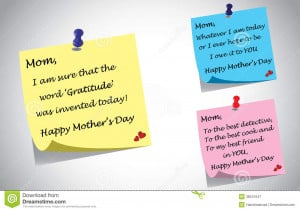 mothers day quotes post it note set. three unique creative quotes ...