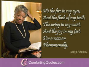 Maya Angelou Phenomenal Woman Quotes