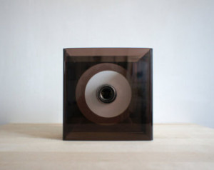 ... Light // Mod Style Lighting Lamp // Square Brown Geometric Neutral