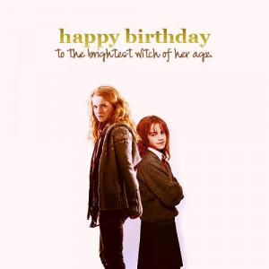 Happy Birthday Hermione!♥ - harry-potter Fan Art