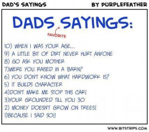 Daddy sayings