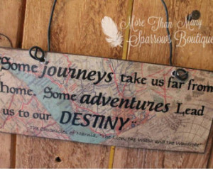 ... Sign | Door Quote Hanger | Chronicles of Narnia Inspirational Quote