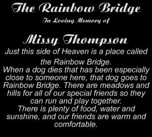 The Rainbow bridge memorial pet urn is a unique handcrafted black ...