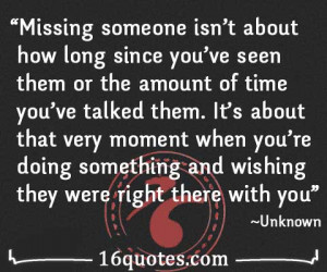 famous quotes missing someone