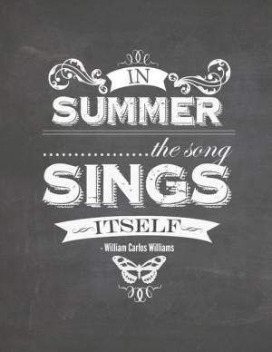 Summer Camp Freebie: Summer Chalkboard Quote