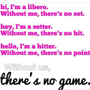 Volleyball Middle Hitter Quotes Middle hitter right here