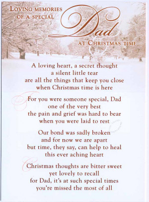 Loving Memories of a special Dad at Christmas time