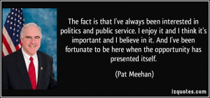 Pat Meehan Quote