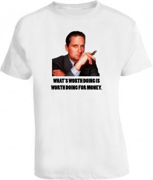 Wall Street Gordon Gekko Money Quote T Shirt