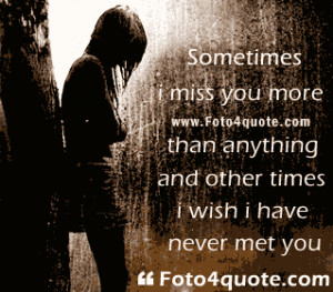 Miss you quotes – I will miss u now and forever