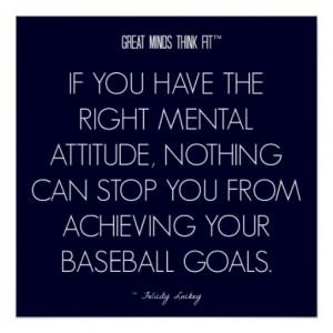 Baseball Quote 5: Attitude for Success Poster