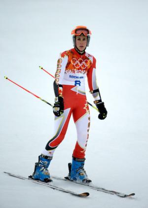 Marie Michele Gagnon Marie Michele Gagnon of Canada reacts after a run