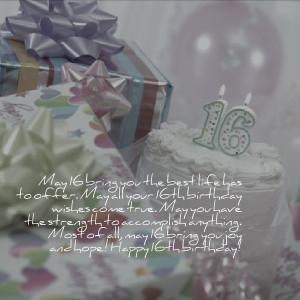 Sweet Sixteen Sayings Birthday