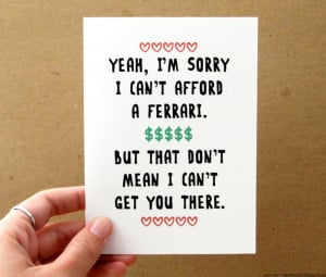 Funny I love you valentines day Card 2014