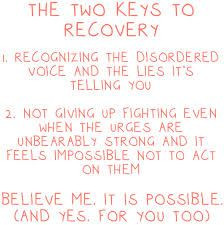 The 2 Keys to #Recovery from an #EatingDisorder More