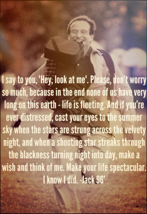 Robin Williams. Absolutely one of the most beautiful movie quotes ...