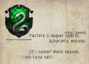 Harry Potter House Quotes — Slytherin, Virgil (The Aeneid). Yay ...