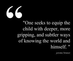 found this quote by Jerome Bruner, a social social constructivism ...