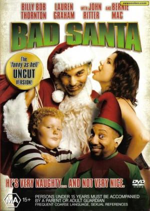 bad santa movie poster bad santa quotes bad santa movie quotes bad ...