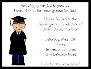 Shop our Store > Boy Preschool/Kindergarten Graduation Invitations