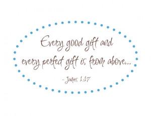 ... Decal Bible Verse James 1:17 for Girl Boy Baby Nursery 22
