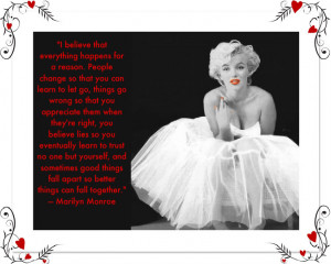 cutebritney1989's Bucket / Marilyn Monroe quotes