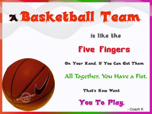 Basketball Quotes About Teamwork A basketball team is like the