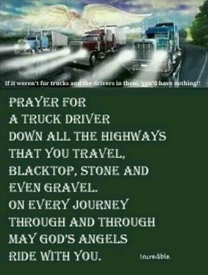 Prayer for truck drivers