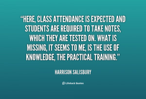 Attendance Quotes