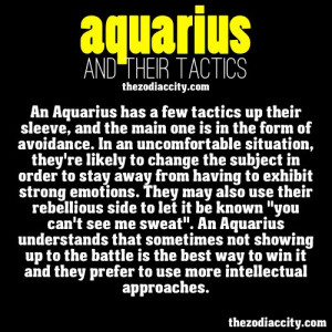 Zodiac Aquarius and their tactics.