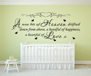 Wee Bit Of Heaven... Quote - Nursery Vinyl Wall Art Decal Sticker