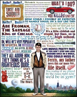 Quote Ferris Bueller Poster