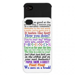 Friends TV Quotes iPhone Wallet Case on