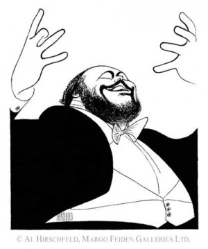 ... Pavarotti Signed Limited Edition Lithograph by Al Hirschfeld | eBay