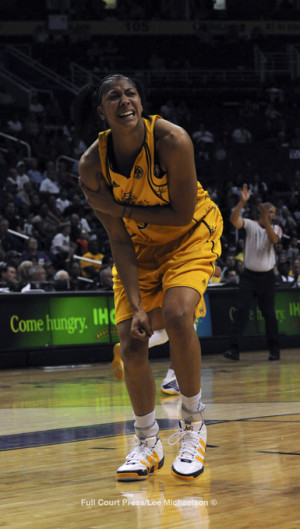 Player Candace Parker Right After The Wnba Game Against Indiana