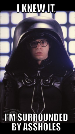Spaceballs movie Rick Moranis is Dark Helmet