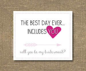 How to Ask Bridesmaid / Will You Be My Bridesmaid Funny / Will You Be ...