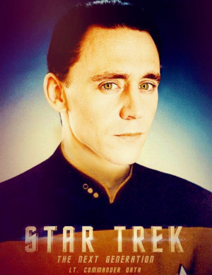 Loki as Lt. Commander Data. File under things I didn't know I wanted ...