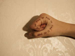 finger 25 Best Tattoo Quotes